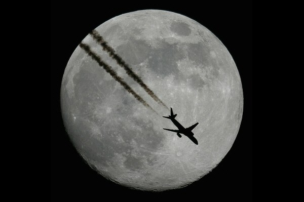 This plane really flew in front of the moon