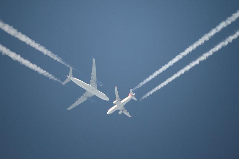 Flugzeug Kollision